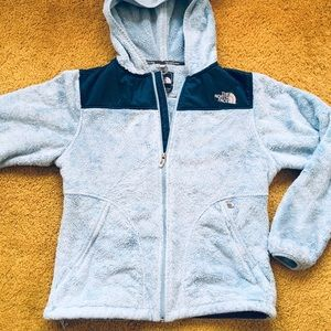 North face thick fleece jacket